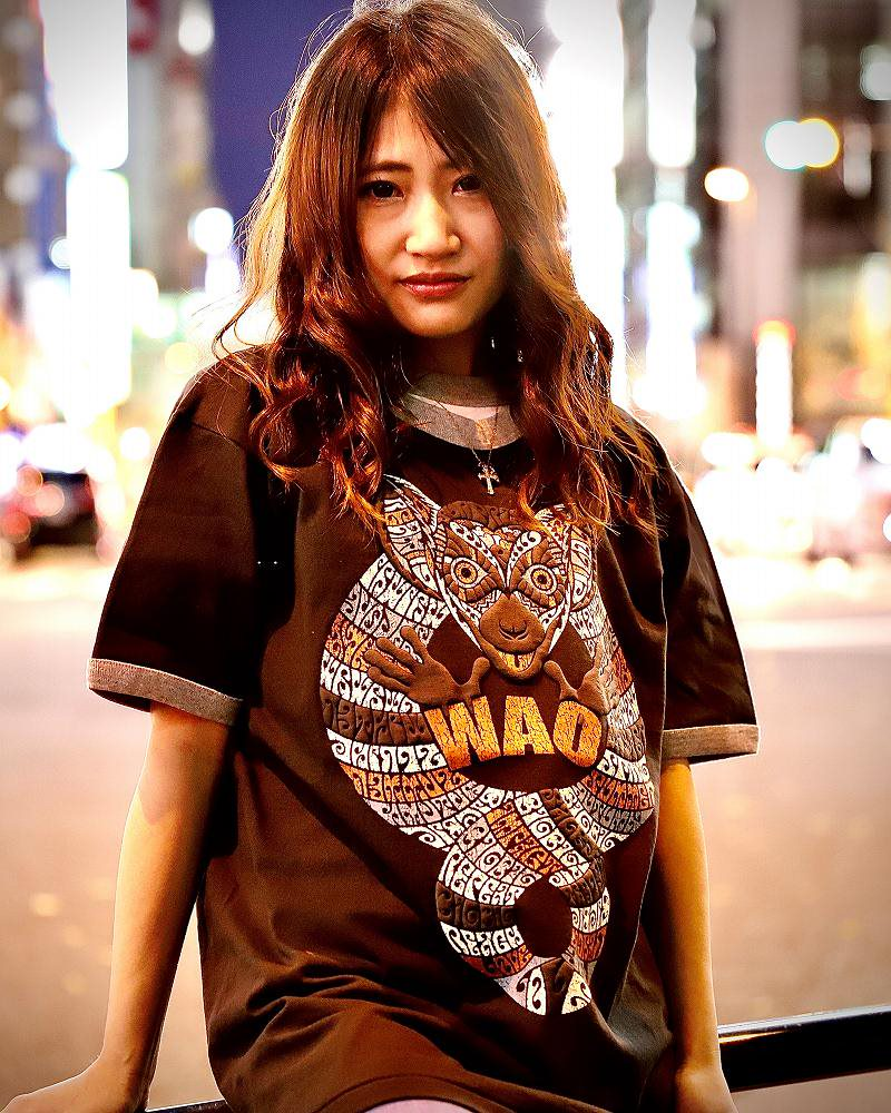 【OTACCIMAN】ワオキツネザルTシャツ〜WAO〜の画像3